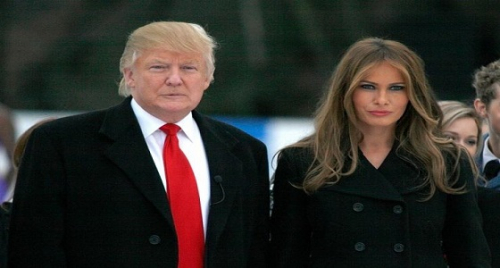 حقيقة توتر العلاقة الزوجية بين ترامب وميلانيا