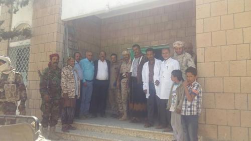 الصلاحي  يتفقد مستشفى المفلحي ويحث العاملين فيه بمزيد من الجهود الطبية
