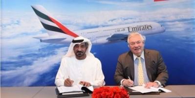 """طيران الإمارات توقع صفقة شراء 36 طائرة من """"إيرباص A380"""""""