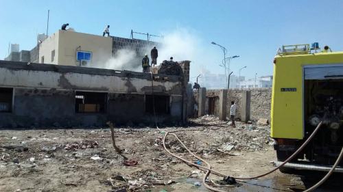 أمن عدن يوضح طبيعة الحريق الذي نشب في أحد مكاتبه ظهر اليوم