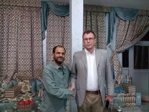 رئيس اللجنة الدولية للصليب الأحمر يشكر مدير  إدارة أمن عدن على تعاون إدارته وتسهيلها لعمل اللجنة