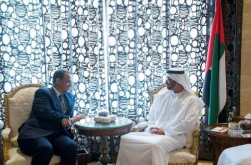 محمد بن زايد يلتقي بولد الشيخ لبحث مستجدات الأوضاع في الساحة اليمنية