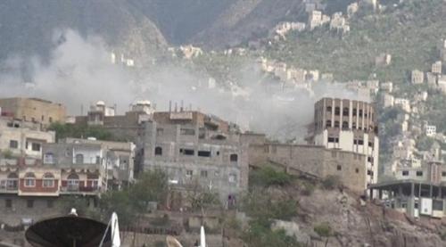 ميليشيات الحوثي تقصف أحياء سكنية في حيس