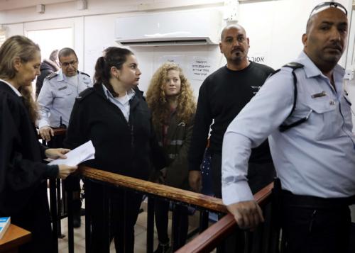 انطلاق محاكمة الفلسطينية عهد التميمي في جلسة مغلقة