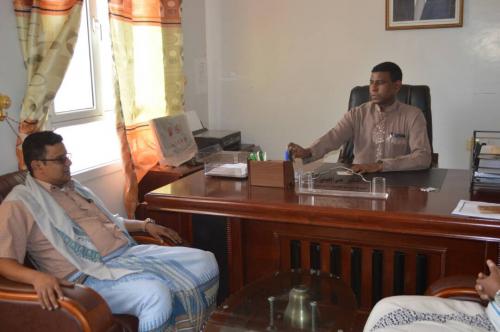 مدير مكتب الصحة في محافظة سقطرى يلتقي ممثل برنامج GIZ
