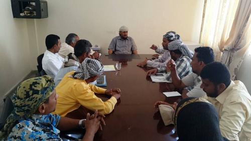 مدير عام التواهي يناقش مع الصندوق الاجتماعي آلية تنفيذ مشاريع التنمية في المديرية