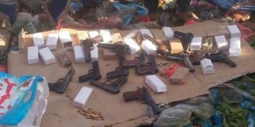 ضبط أسلحة حوثية في الضالع