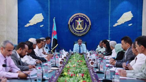 اجتماع الهيئة الادارية للجمعية الوطنية برئاسة اللواء احمد سعيد بن بريك