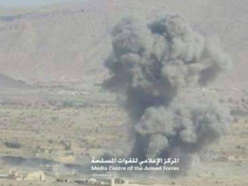 مأرب : 12 قتيلا من المليشيا في قصف التحالف لتعزيزاتهم في صرواح