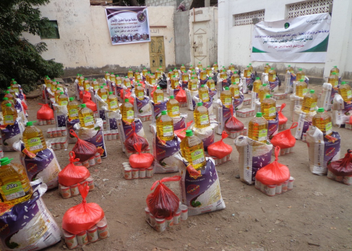 """منظمة """"سواسية"""" تدشن المرحلة الثانية من مشروعها الغذائي السنوي للنازحين في عدن"""