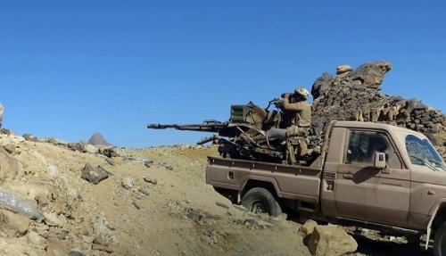 الجيش الوطني يستعيد موقعين من الميليشيات بنهم