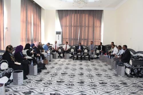 محافظ حضرموت يستقبل وفد مكاتب منظمات الأمم المتحدة العاملة باليمن