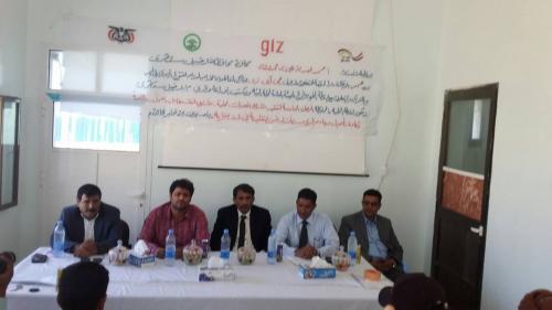 محلي سقطرى  وبدعم من منظمة ال ( جي آي زد ) يدشن المرحلة السادسة من مشاريع المعونات المحلية في 14قرية