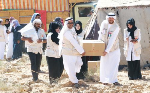 «الهلال الإماراتي» الأسرع وصولاً والأكثر نشاطاً في المحافظات المحررة