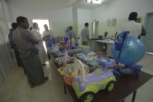 """""""صور"""" الهلال الأحمر الإماراتي يفتتح قسماً لعلاج الأطفال من سوء التغذية في مستشفى تريم"""
