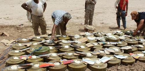 منظمة: الحوثيون زرعوا نصف مليون لغم في اليمن