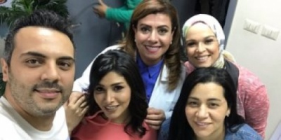 صور.. نشوى مصطفى وأحمد فريد يشاركان فى كليب حسين الجسمى الجديد