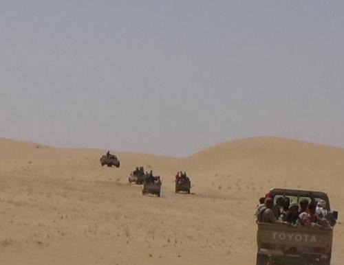 الجيش الوطني يدفع بأهم ألويته لحسم المعركة في حرض وميدي