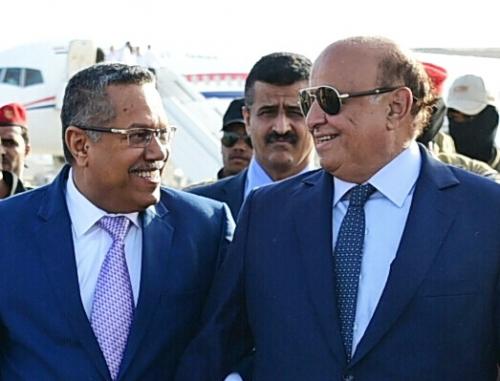 """حرب خفية بين هادي وبن دغر على رئاسة المؤتمر """" حصري """""""