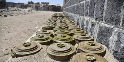 العثور على مخزنين للألغام والعبوات الناسفة تابعة لميليشيا الحوثي بالجراحي