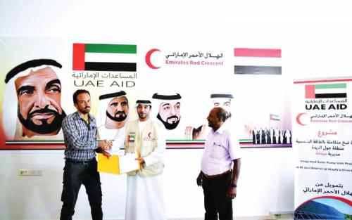 «الهلال  الأحمر الإماراتي» يوقع اتفاقية لإنشاء وحدة ضخ المياه في ميفعة