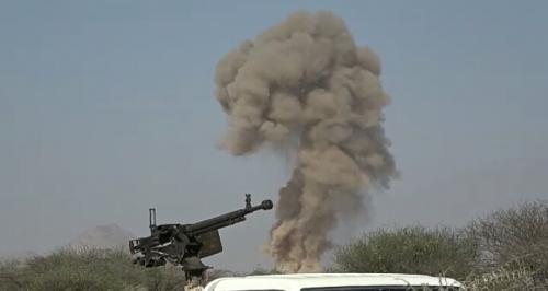 تفجير كميات كبيرة من الألغام ومخلفات الحرب في مديرية لودر