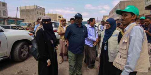 المؤسسة الطبية الميدانية تدشن توزيع السلل الغذائية في مديرية ردفان محافظة لحج