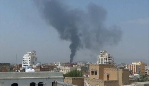 مقاتلات التحالف تقصف مطار صنعاء وقاعدة الديلمى الجوية