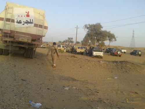 نصب قطاع قبلي بخط (صافر - العرقين)يوقف وصول ناقلات النفط والغاز
