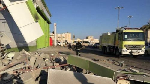 سقوط مقذوفات حوثية على أحد الأحياء السكنية في مدينة نجران السعودية