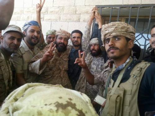 صورة ..قوات الحزام الامني تصل الى مقرها بالضالع بموكب كبير يتقدمه القائد أبو اليمامة