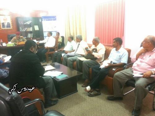محافظ لحج يُوَجِّه المكاتب الخدمية بسرعة تقديم أبرز مشاريعها الإسعافية التنموية للاستفادة من الدعم المالي للتحالف العربي