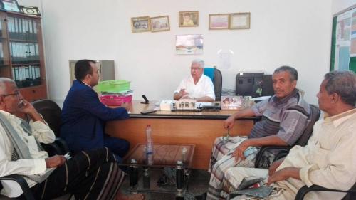 وكيل محافظة أبين يلتقي مدير الصندوق الاجتماعي للتنمية بعدن