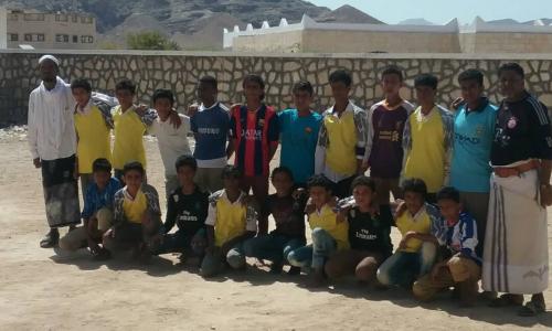 ضمن النشاطات المدرسية بالمحفد  مباراه وديه في كرة القدم جمعت مدرستي 22 يونيو وروّاد النهضه