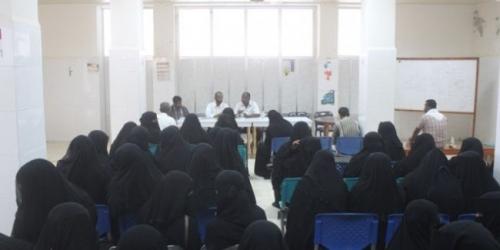 الشحر دورة التدريبية لـ 73 متدرب لتنفيذ حملة طارئة للتطعيم ضد الحصبة