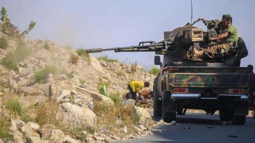 تجدد الاشتباكات العنيفة بين الجيش الوطني وميليشيا الحوثي  في مناطق الخط الأمامي لجبهة الضباب