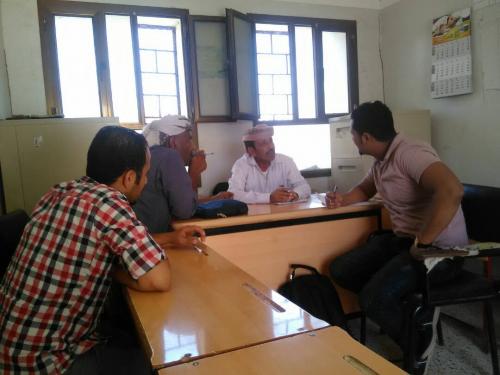 مديرعام مضاربة لحج يلتقي مسؤول الأمن الغذائي بمنظمة اوكسفام ويضع خطة لاستهداف المناطق المحرومة