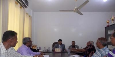 القائم بأعمال محافظ عدن يزور المجلس المحلي بمديرية المنصورة