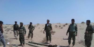 """قوات الحزام الأمني بلحج تضبط صواريخ كاتيوشا في منطقة """"جلاجل"""""""