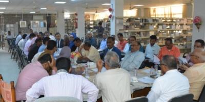 مجلس جامعة عدن يقف أمام الأحداث الخطيرة التي شهدتها كلية الآداب