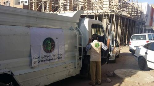 وصول أول وايت لمشروع مكافحة العطش إلى عدن