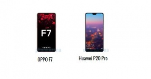 أبرز الاختلافات بين هاتفى أوبو F7 و هواوى P20 Pro