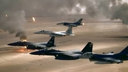غارات جوية على تعزيزات لمليشيا الحوثي بالبيضاء