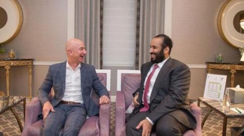 ولي العهد يبحث الفرص الاستثمارية بالسعودية مع رئيس شركة «أمازون»