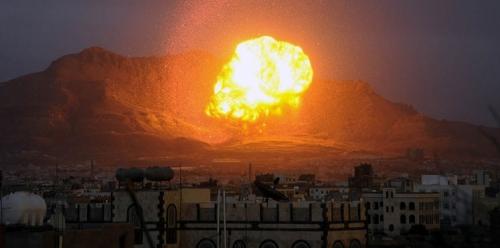 مقتل وإصابة 85 حوثيا في غارات للتحالف العربي على معسكر حمزة في إب