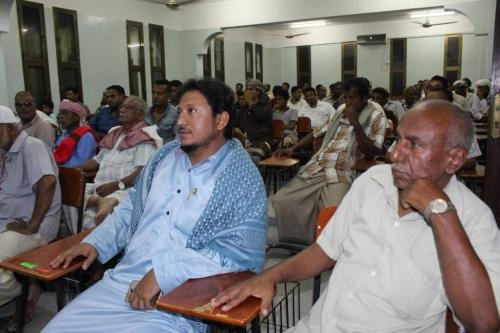 اللجنة المجتمعية للأحياء بالمكلا تقيم حفل اشهار حي