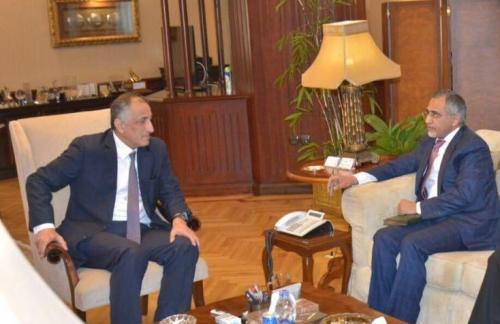 زمام يناقش مع محافظ البنك المركزي المصري مجالات التعاون بين الجانبين