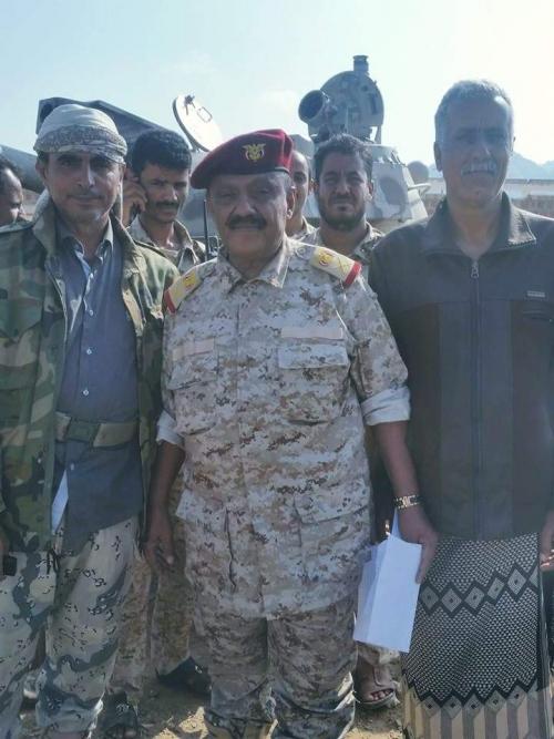 من على مشارف الراهدة .. اللواء العمري : ماضون لكسر الحصار عن تعز وتحريرها من المليشيات