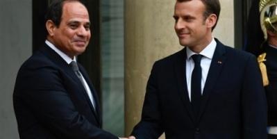 ماكرون يؤكد دعمه للرئيس المصري في مكافحة الإرهاب