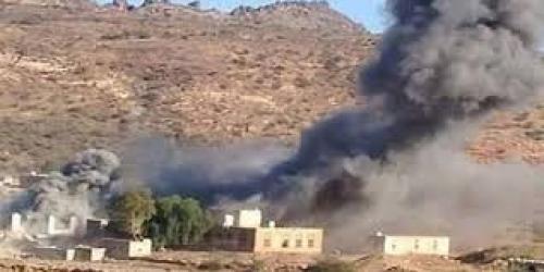 إصابة امرأة وتضرر عدد من المنازل في قصف للمليشيات على مديرية الزاهر في البيضاء